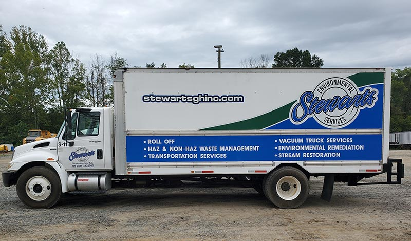 Box Truck - Stewart's Grading and Hauling
